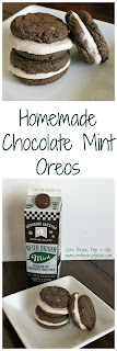 Homemade Chocolate Mint Oreos #AEdairy #sponsored - quick, easy and fun cookie that all ages will enjoy!
