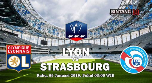 Prediksi Lyon vs Strasbourg 9 Januari 2019