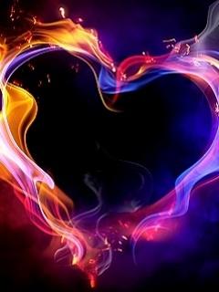 Love Fire Mobile Wallpaper