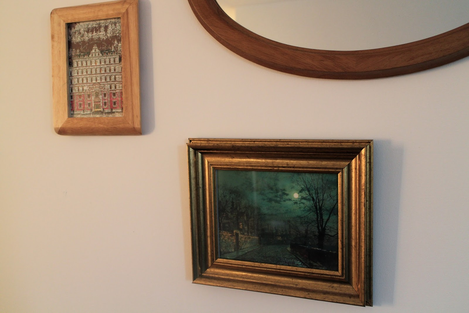 Close up of gallery wall photo frames