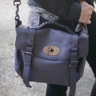 Mulberry regular Alexa bag in foggy grey | AwayFromTheBlue