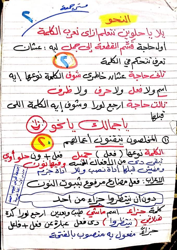 مراجعة اللغة العربية للصف السادس الابتدائي ترم ثاني أ/ جمعة قرني لبيب 2