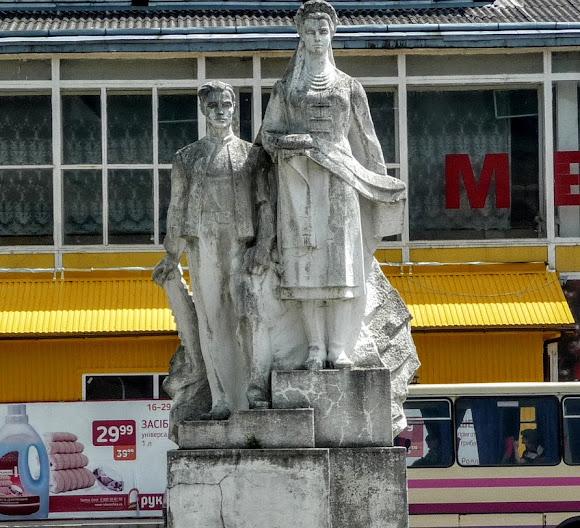 Сколе. Пам'ятник трудівникам міста