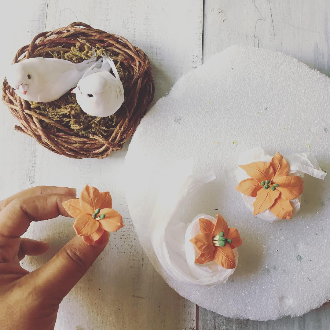 Love bird nest cake topper for NewZealand bride | Handmade PaPer ...