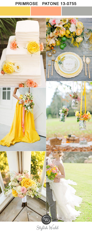 Kolor na Ślub i Wesele, Kolory ślubne 2017, Kolory ślubów i wesel 2017, Modne kolory 2017, Ślub i Wesele w Kolorze żółtym primrose, Trendy Ślubne 2017,