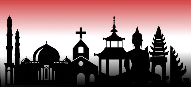 ilustrasi agama agama besar indonesia