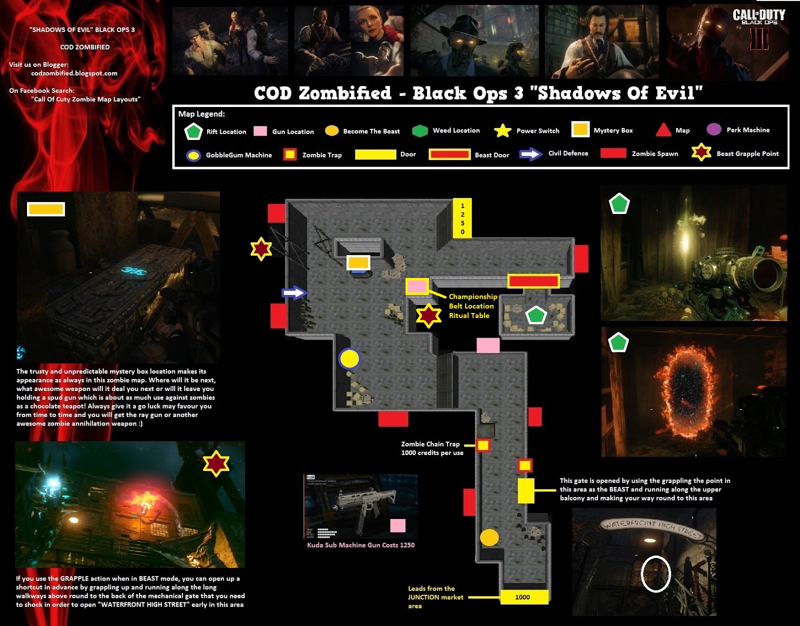 Zombified - Call Of Duty Zombie Map Layouts, Secrets, Easter ...