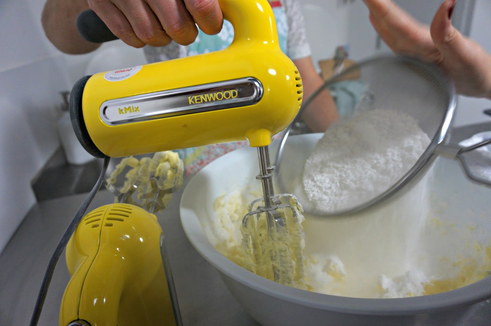 icing being made for a cake