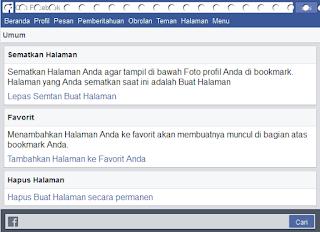Cara Menghapus Halaman (Fans Page) Facebook Secara Permanen