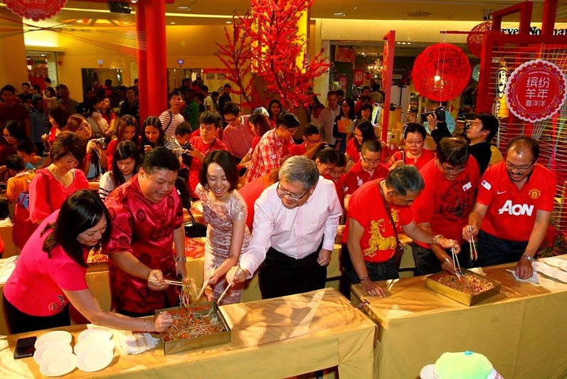 Largest Year Of Sheep Gathering, Cherry Woolly Spring 2015, Sunway Pyramid, Shopping Mall Chinese New Year Deco, CNY Deco, Lou Sang, Yee Sang