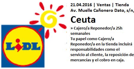 Lanzadera de Empleo Virtual Ceuta, Oferta Lidl