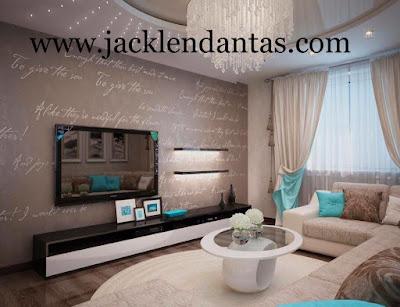 decoração sala pequena apartamento alugado Jacklen Dantas
