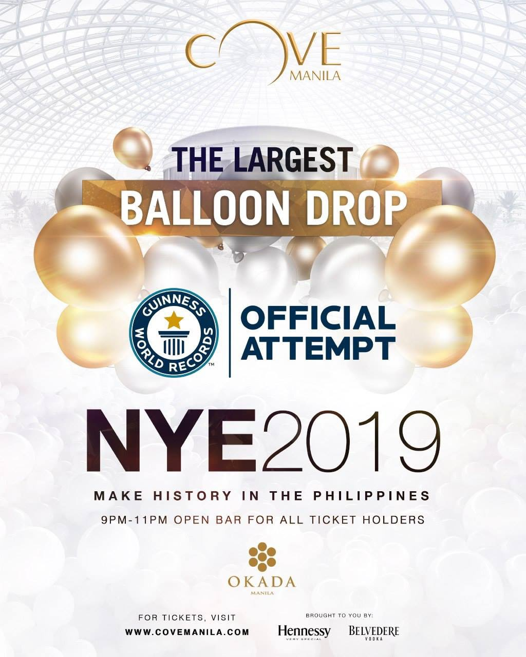 Okada Manila largest balloon drop