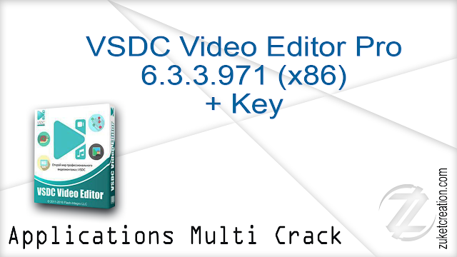 VSDC Video Editor Pro 6.3.3.971 (x86) + Key  |  61,9 MB