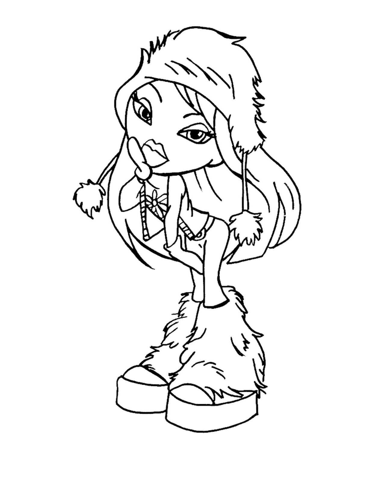 bratz coloring in pages | Winter bratz coloring pages - Coloring Pages