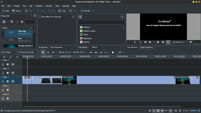 Kdenlive For Editing And Making Videos
