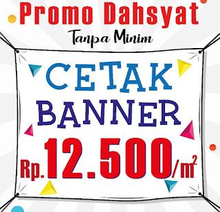 Cetak Banner Murah cuma 12.500/m