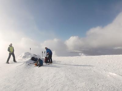 Winter climbing, Aonach Mor