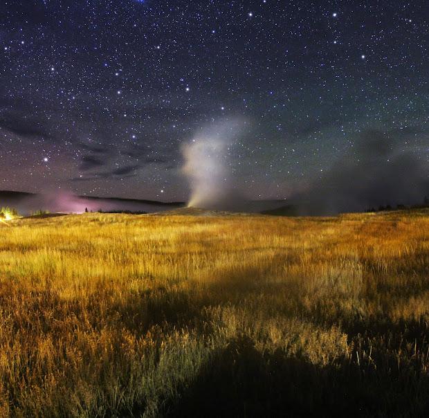 Starry Night Landscape Photography