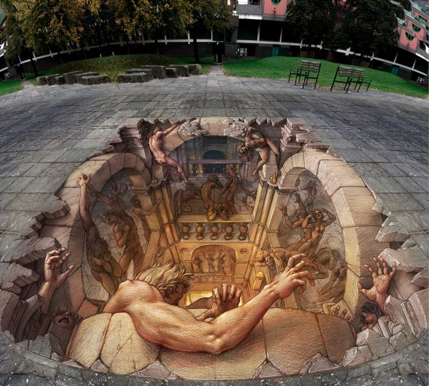 17-Disaster-Kurt-Wenner-3D-Street-Pavement-Art-Painting-www-designstack-co