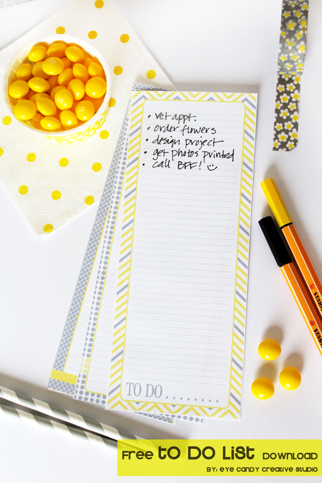 free to do list, free list download, yellow & grey, to do list freebie