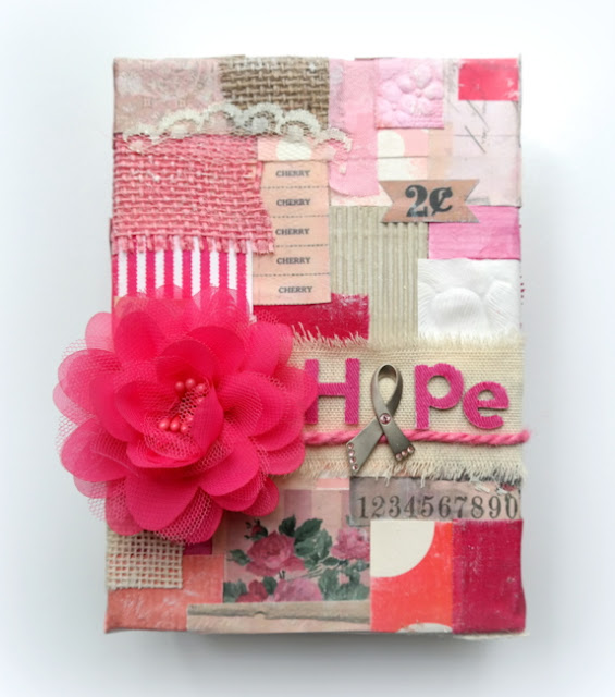 Breast Cancer Awareness Hope Canvas by Dana Tatar