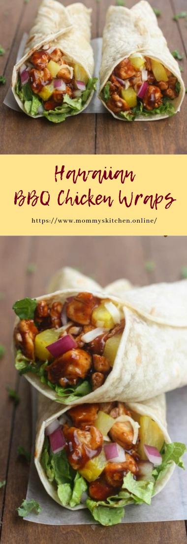 Hawaiian BBQ Chicken Wraps #healthy #recipe