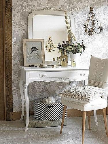 White bedroom vanity ~ Home Decorating Ideas