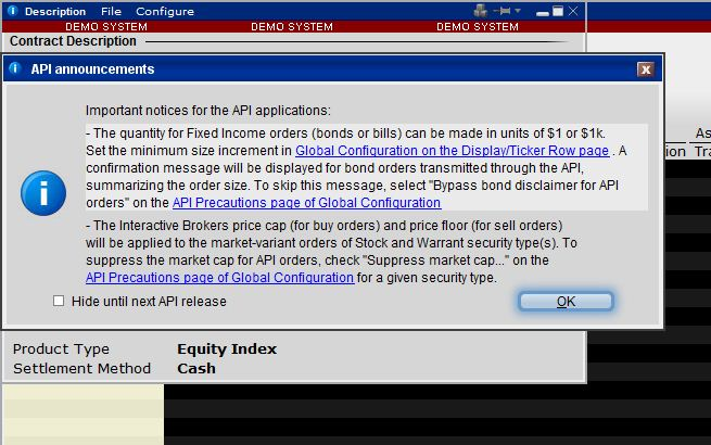 Quantum Support: Interactive Brokers Trader Workstation API