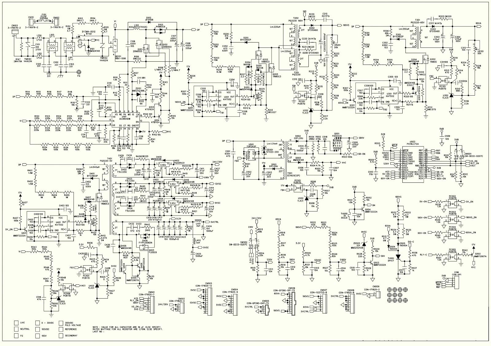 Electro Help  Hyundai 42 Inch Plasma Tv Smps Usp490m