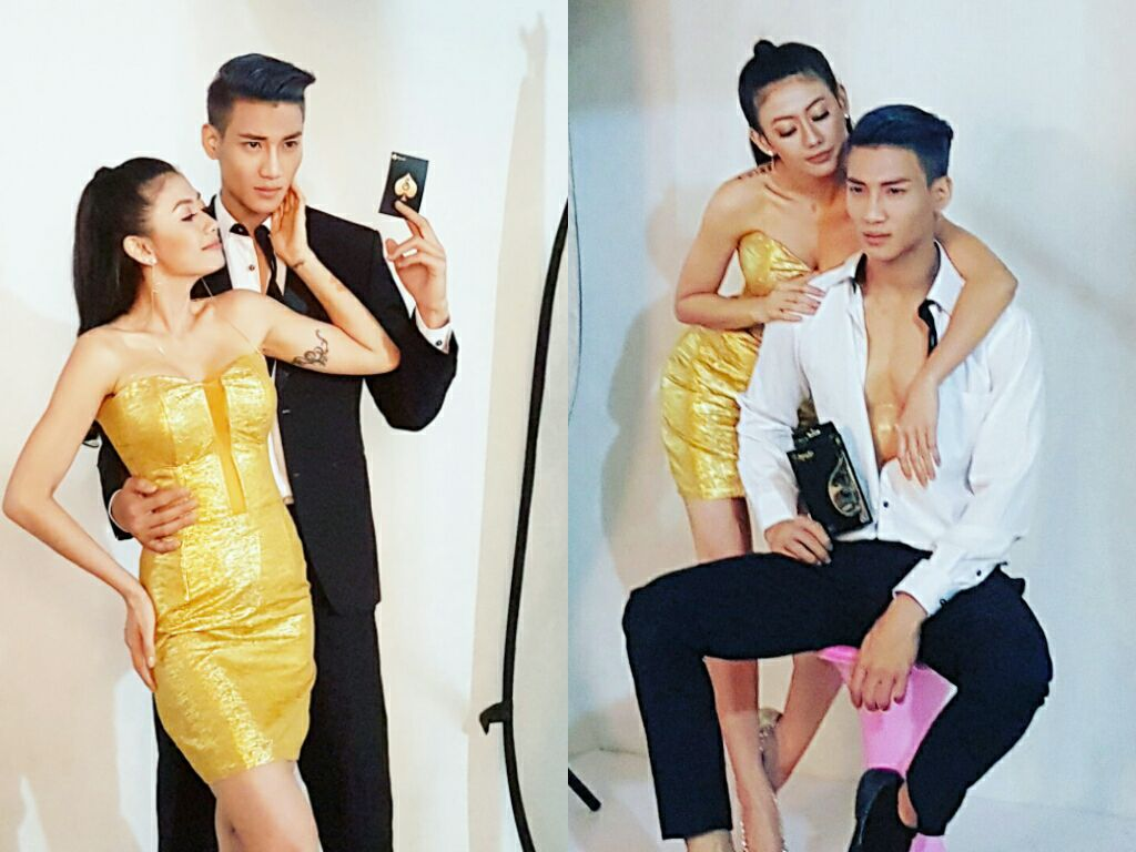 Thinzar Wint Kyaw Golden Dress Style Fashion Photoshoot With Paing Takhon