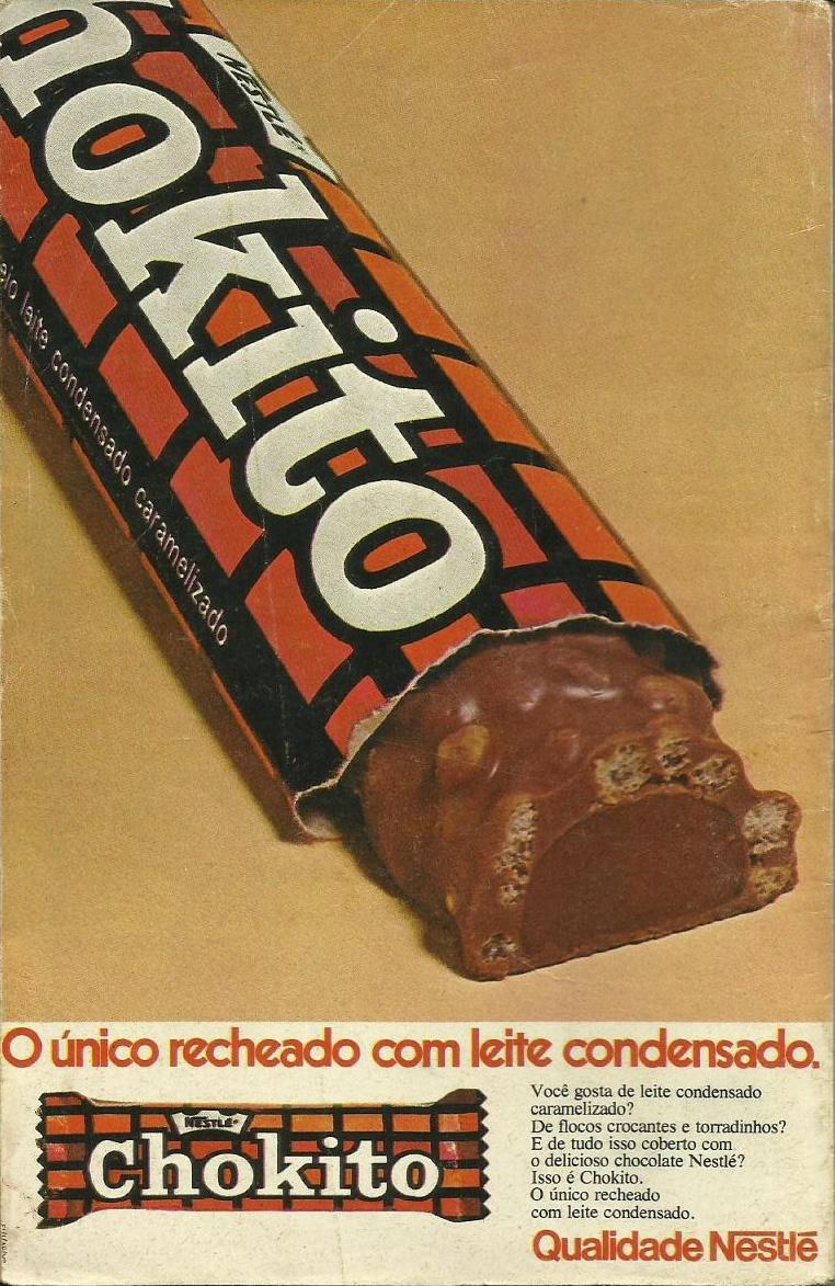 Propaganda antiga do chocolate Chokito da Nestlé nos anos 70