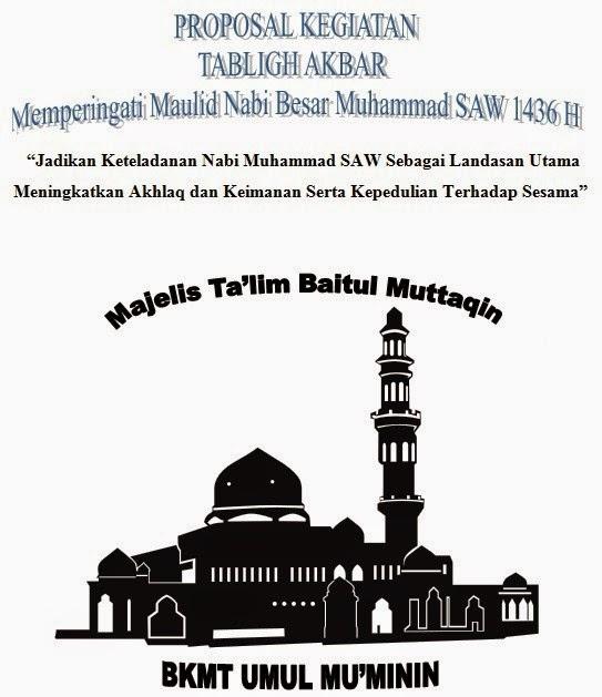 Proposal Maulid Nabi Muhammad 1436 H
