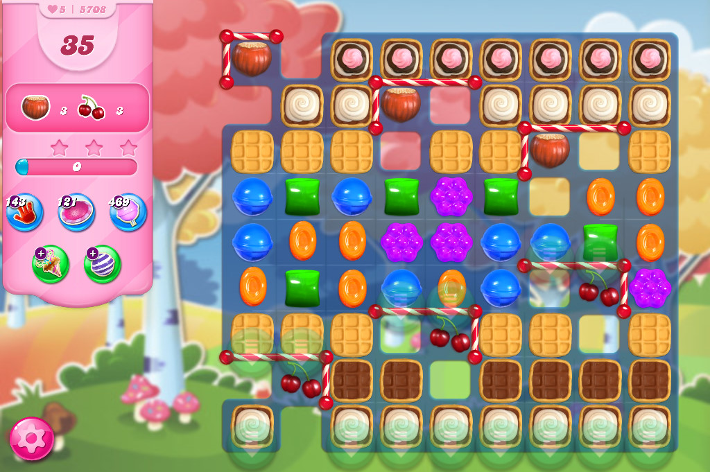Candy Crush Saga level 5708