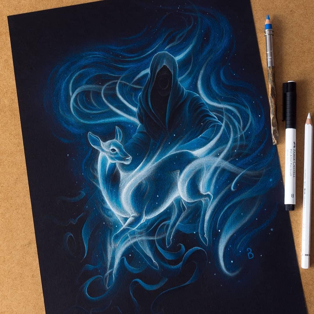 02-Harry-Potter-Łukasz-Andrzejczak-Fantasy-Art-and-Animals-www-designstack-co