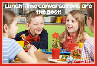 Enjoy lunch with your child at school, and get in on the conversation too. This is a big motivator for children in school.