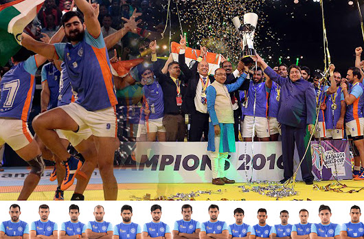 Indian become the Champion of Kabaddi World Cup 2016