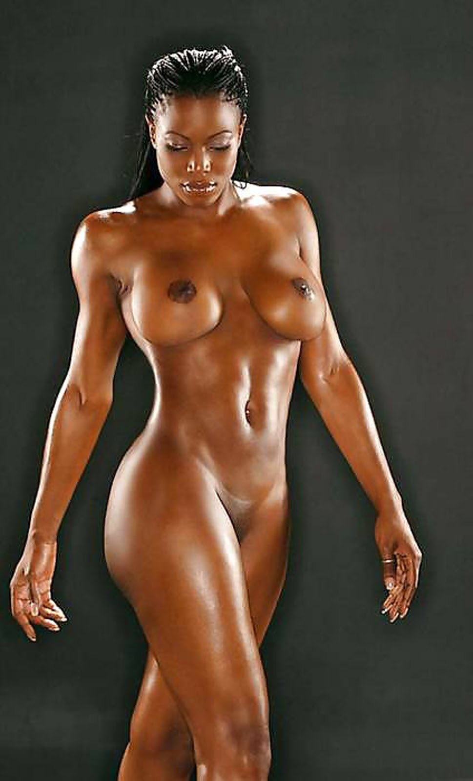 ebony nude workout