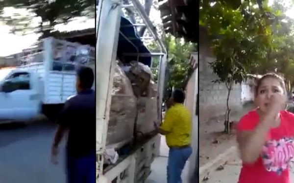 Captan a individuos escondiendo víveres en casa de funcionario de Juchitán (VIDEO)