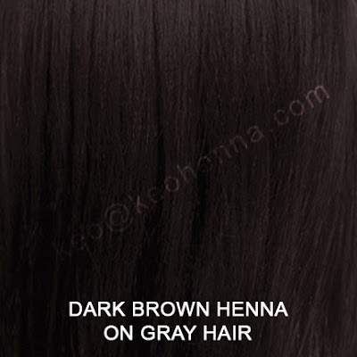 Dark Brown Henna Hair Color On Gray Hair