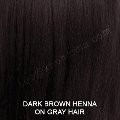 Dark Brown Henna Hair Color On Gray Hair