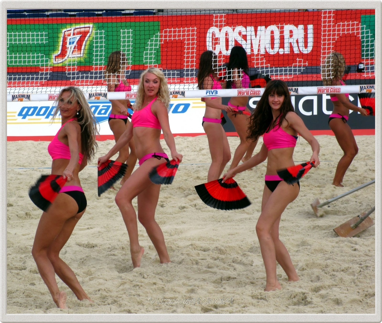 Dancing Beach Volleyball Girls