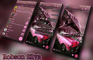 Pink Car Theme For GBWhatsApp By Robson