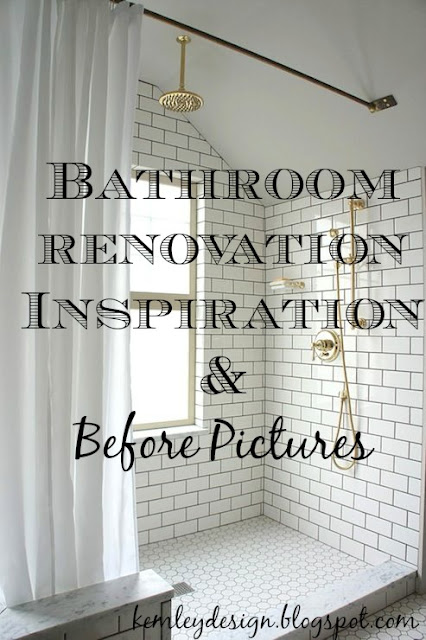 Bathroom Renovation: Before Pictures and Inspiration