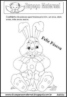 Desenho coelho páscoa