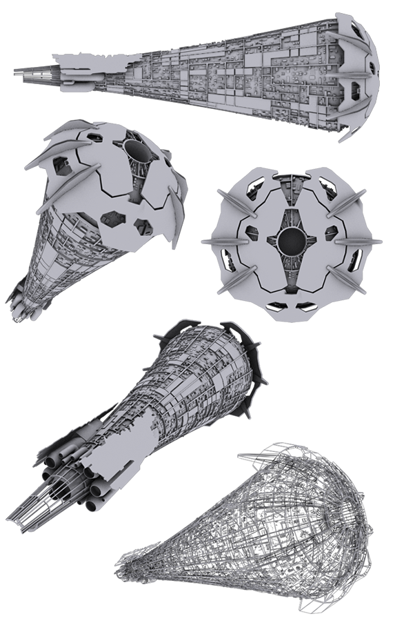 spaceship, sci fi, titan, mothership, carrier, dreadnought