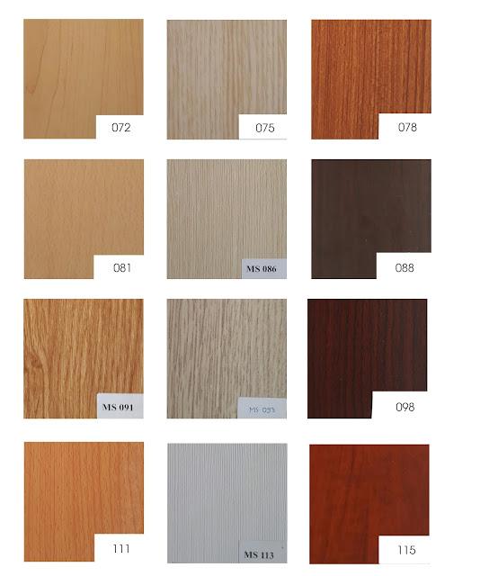 bảng màu melamine vân gỗ