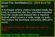 naruto castle defense 6.3 Madara Great Fire Annihilation detail