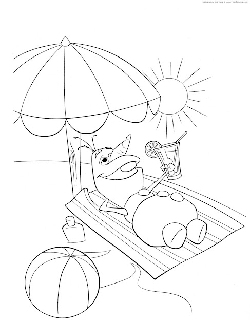 Olaf In Summer Coloring Pages  Free Coloring Pages For Kids Pshh