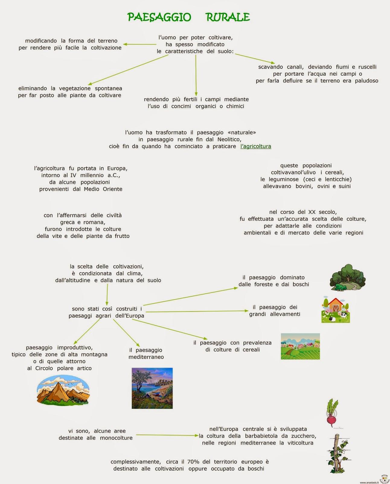 Paesaggio Rurale Mappa Concettuale